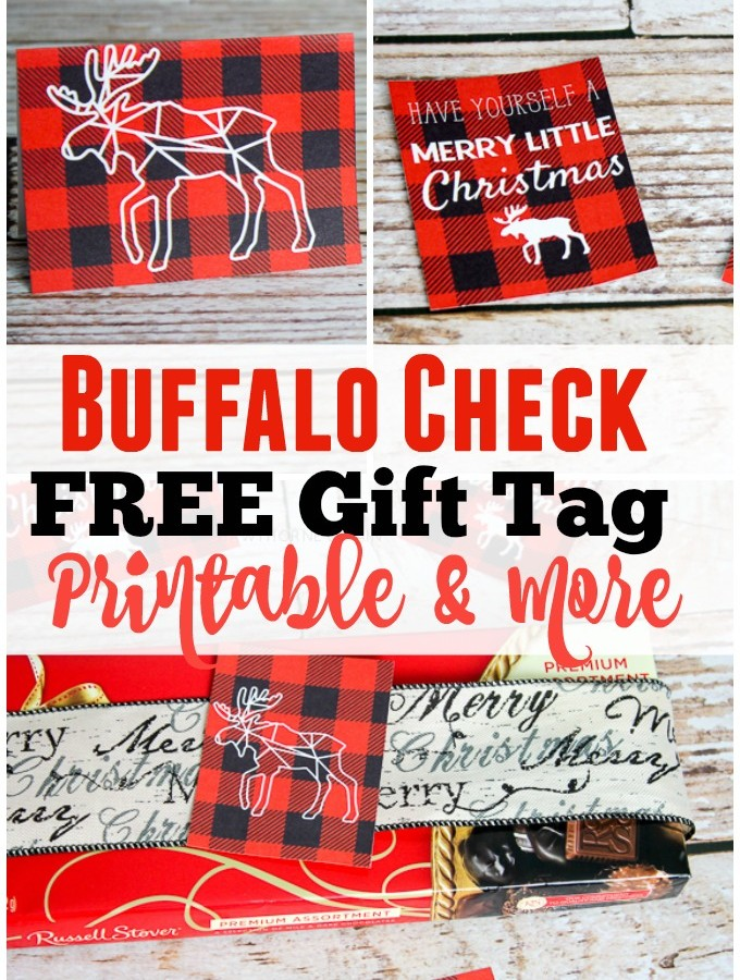 Buffalo Check Printable Gift Tags and More