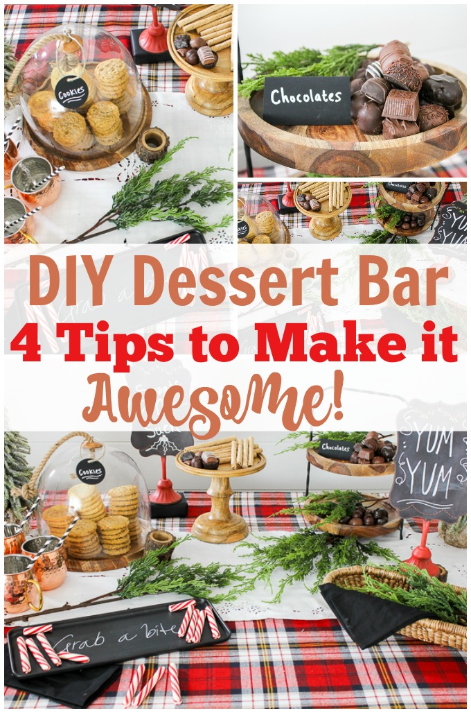 Creating an amazing dessert bar doesn't have to be hard. I love her 4 tips to creating a DIY dessert bar. Pinning!