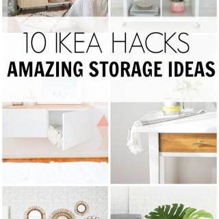 10 Ikea hacks storage ideas