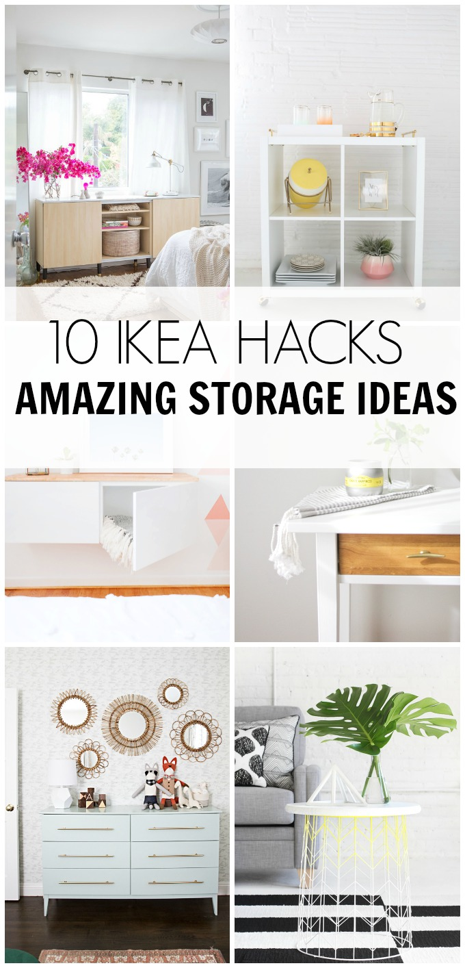 ikea ideas hacks for attic bedroom - 10 IKEA HACKS Amazing Storage Ideas – HAWTHORNE AND MAIN