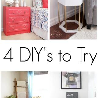 4 diys to try