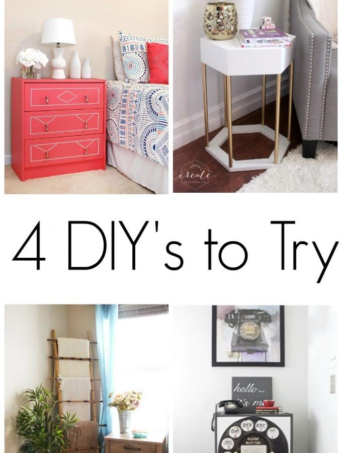 4 DIY's to Try- Brag Worthy Thursday 13