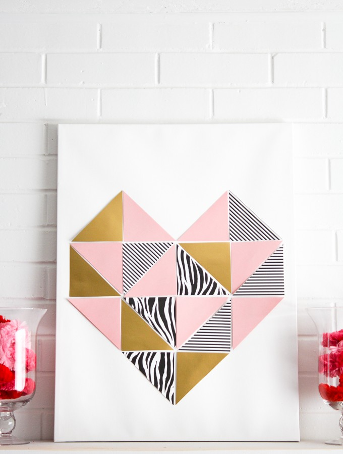 Love at First Sight- DIY Geometric Heart Tutorial