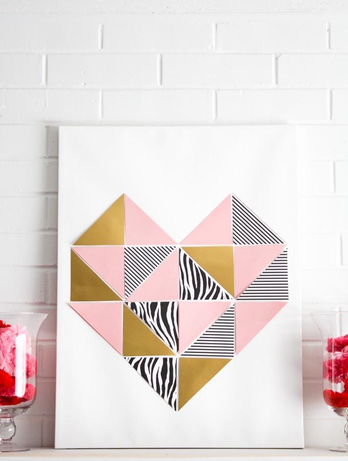 Love at First Sight- DIY Geometric Heart Tutorial