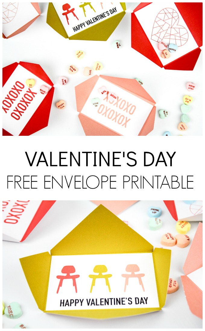FREE Valentine's Day envelope printable. I love how simple these are. Perfect to give to friends and classmates.