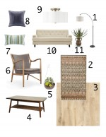 The Suite Pecan- Living Room Mood Board
