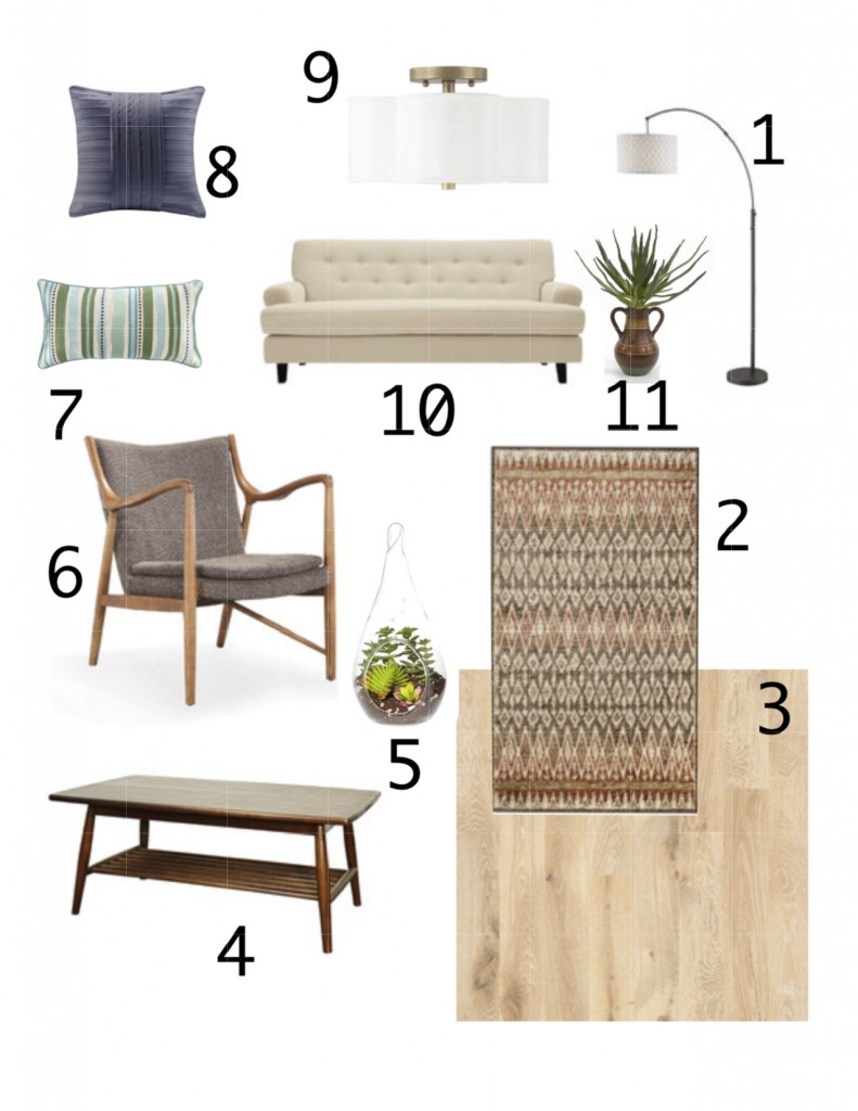 Mood board for our next big project, The Suite Pecan, an apartment addition.