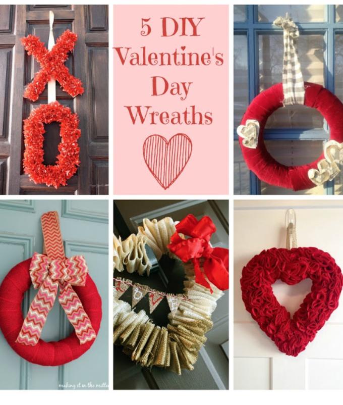 5 Valentine's Day Wreaths- Brag Worthy Thursday 15