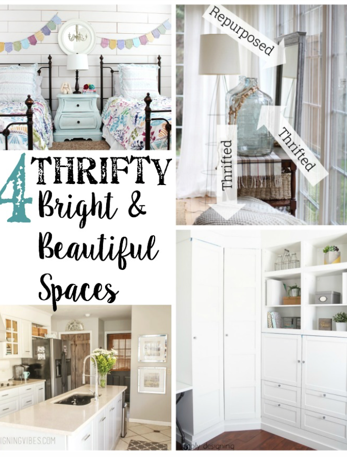 4 Thrifty Bright and Beautiful Spaces- Brag Worthy Thursday 16