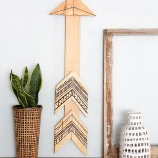 tribal wood aarow wall art 5