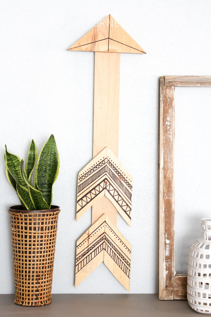 This DIY Tribal Arrow Wall Art looks super easy to make. I love that is uses supplies that I already have on hand. Definitely adding this to DIY list.