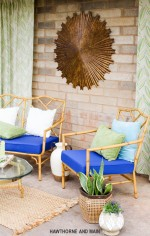 Eclectic Bohemian Patio Refresh