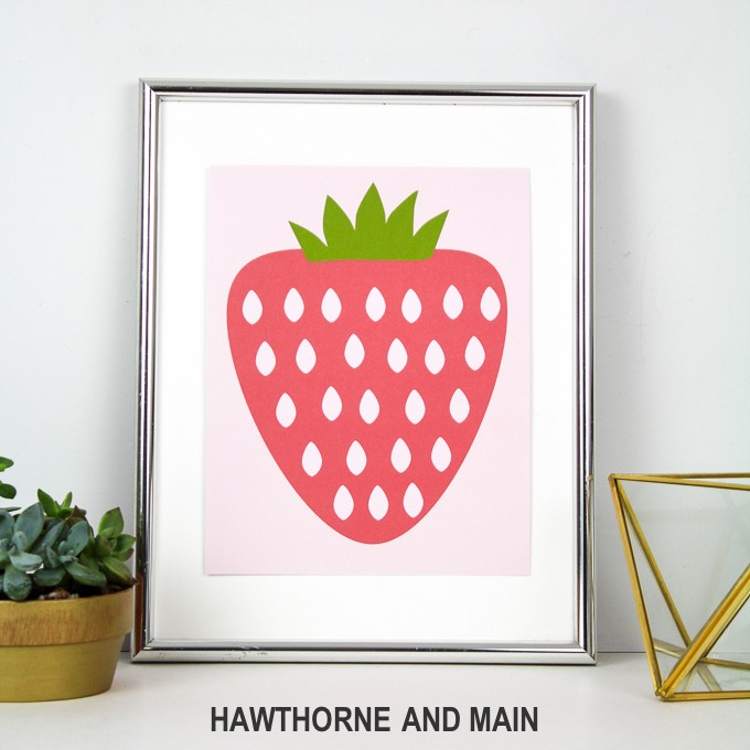 FREE Strawberry Printable PLUS a Giveaway!