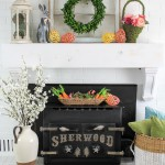 spring-mantel-with-pops-of-easter port-16