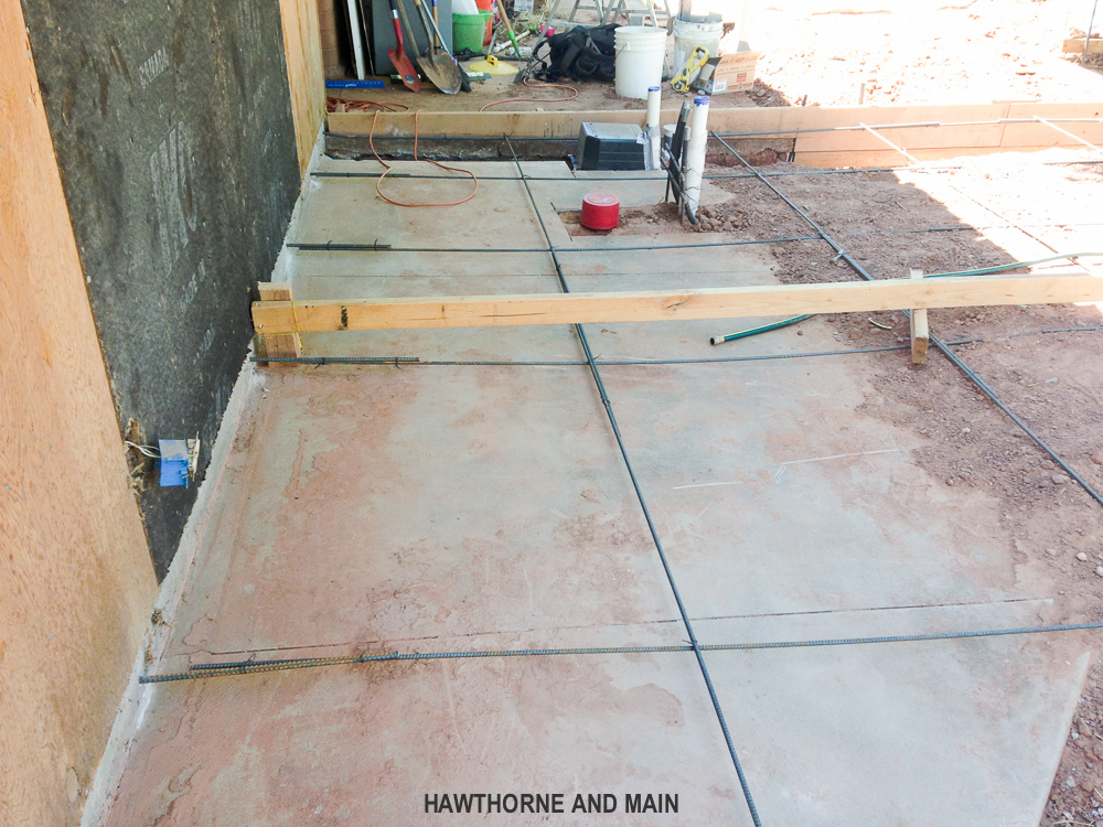 how to pour a concrete slab the house addition the suite pecan is