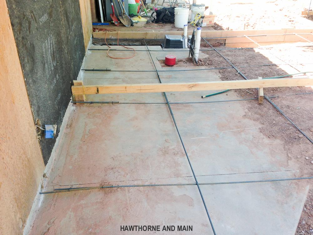 Adding a bathroom on a concrete slab moving a shower for Raised foundation vs concrete slab