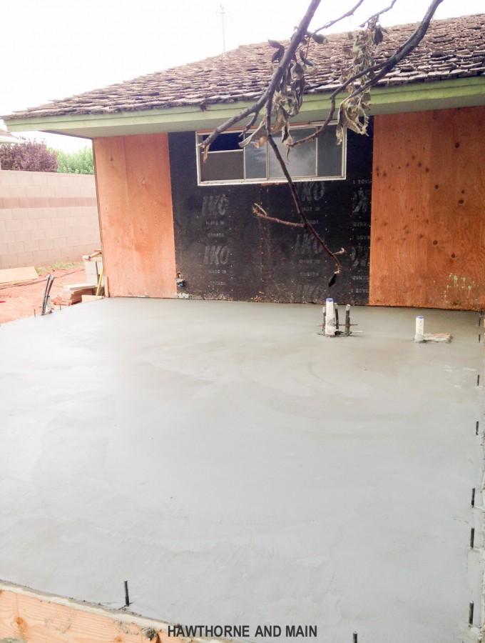 THE SUITE PECAN- Pouring the Concrete Slab