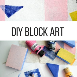 DIY BLOCK ART