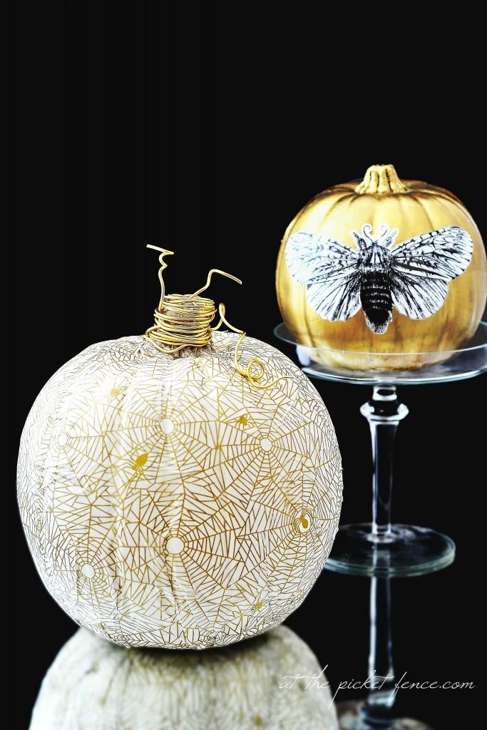 decoupage-pumpkins