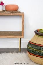 DIY Mid-Century Modern Bench