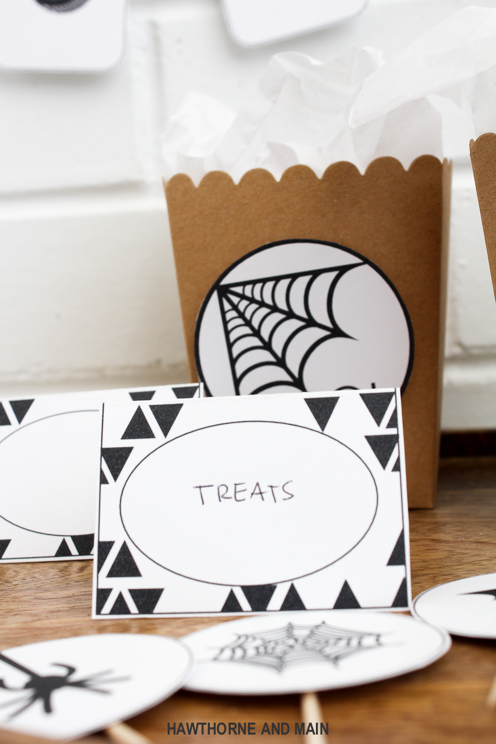 halloween party printable hawthorne and main