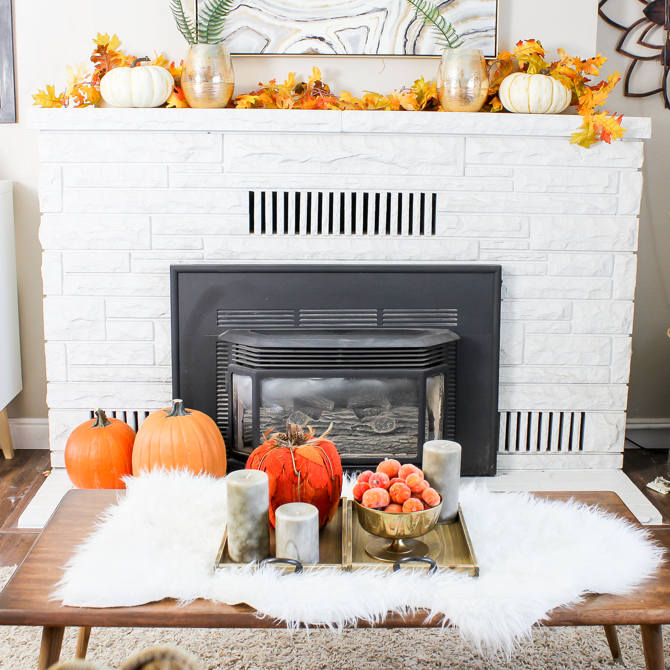 fireplace-with-fall-decorations