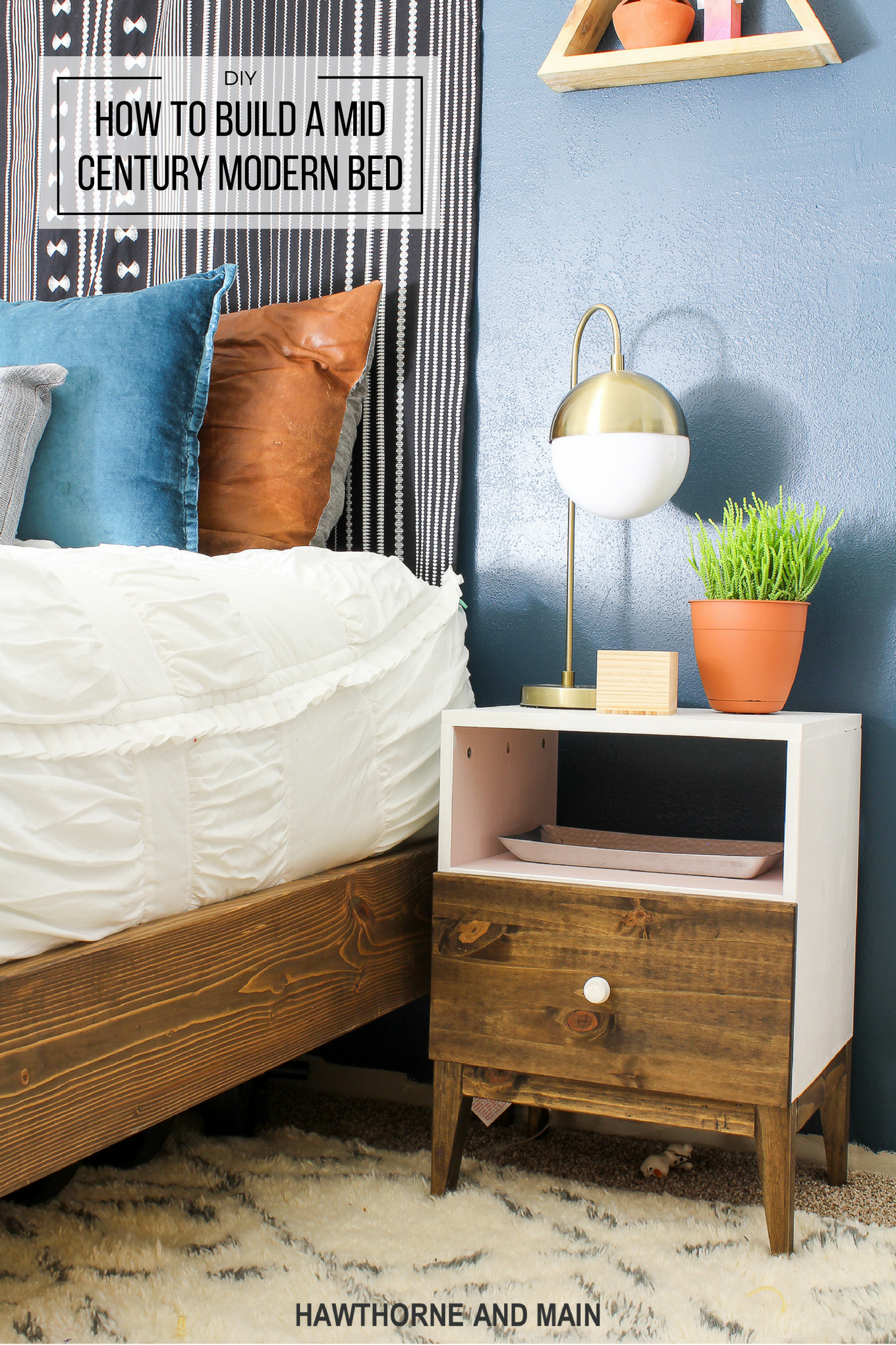 how to build a mid century modern bed. DIY Mid Century Modern Bed   HAWTHORNE AND MAIN