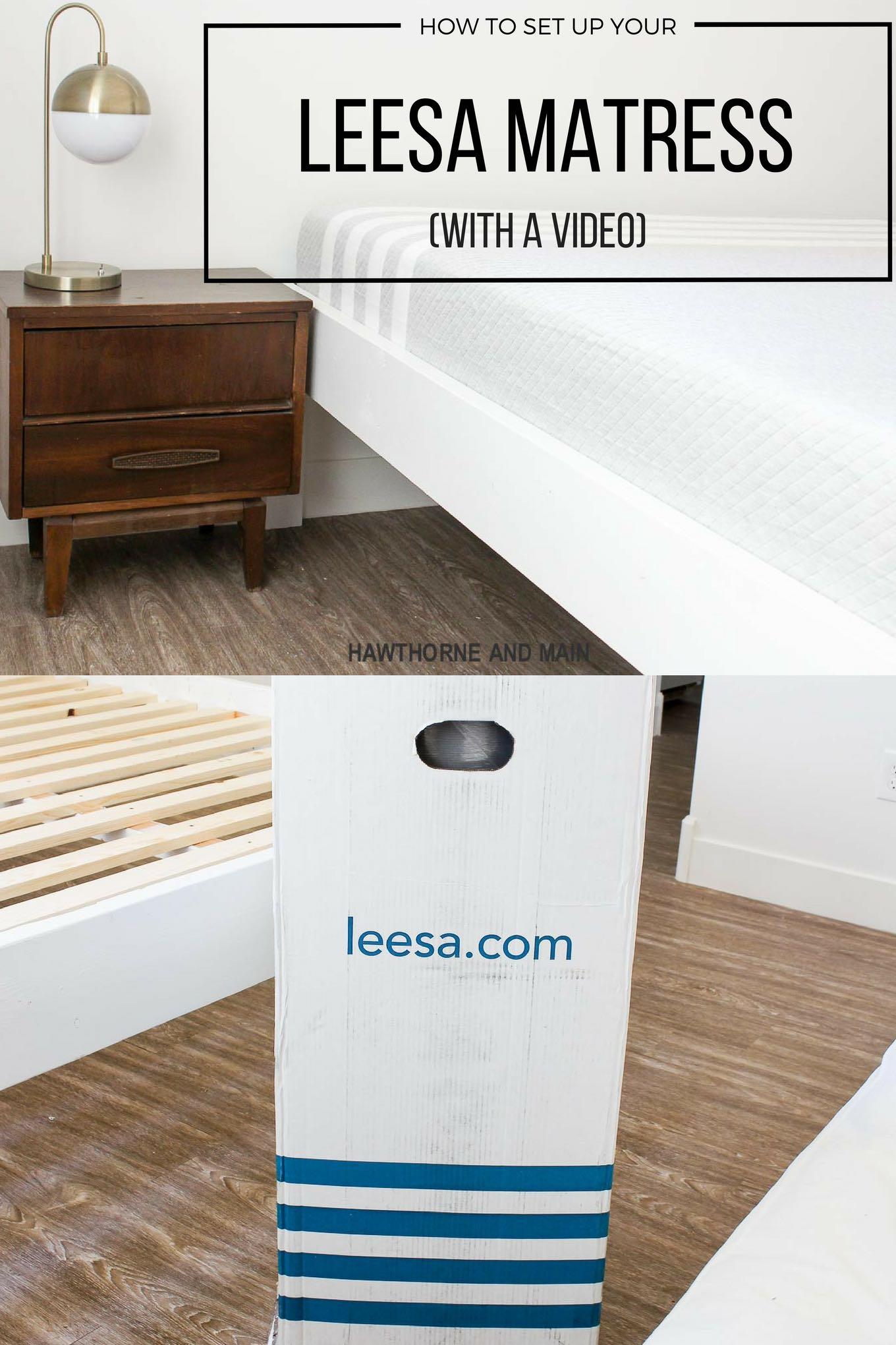 How To Set Up A Leesa Mattress Hawthorne And Main