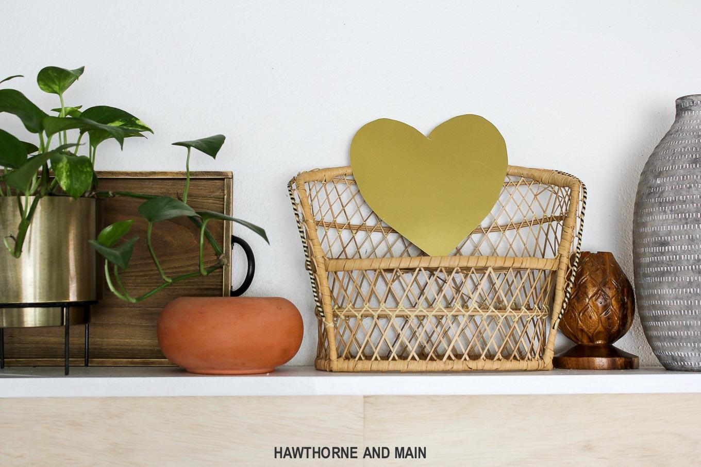 metallic-heart-on-shelf