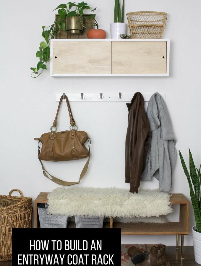 Simple DIY Coat Rack