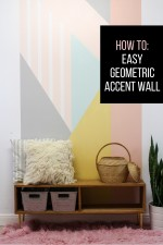 How to: Easy DIY Geometric Accent Wall