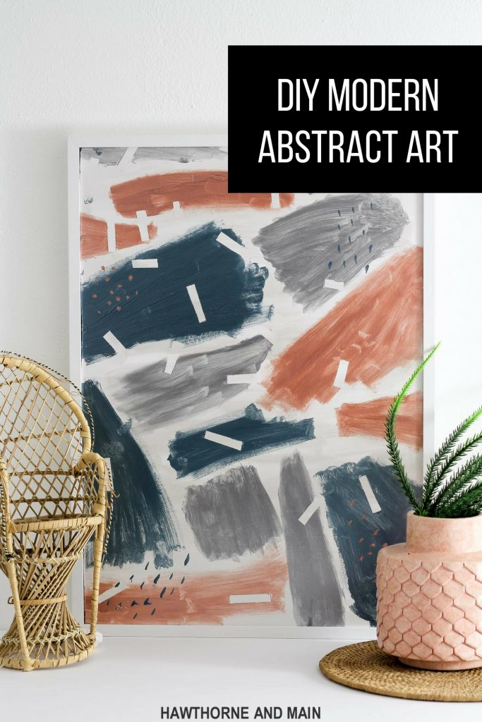 DIY modern abstract art is easy to create at home. Get the full tutorial with additional ideas and tips and tricks.