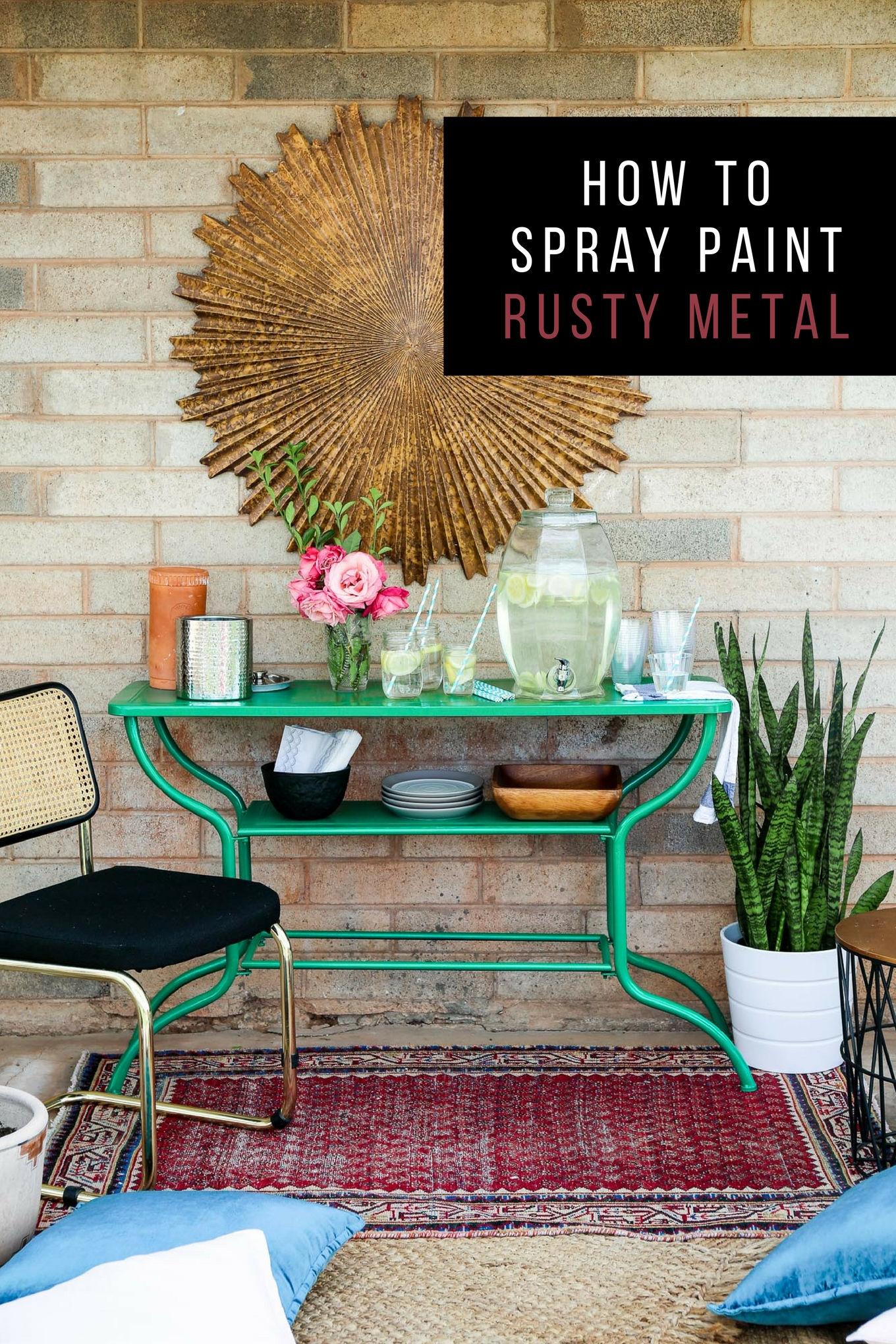 How to spray paint rusty metal.  Take something rusty and turn it into a usable pretty piece once more. These tips will make for a successful project!