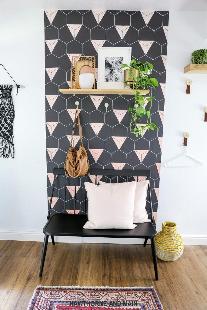 modner boho laundry room reveal